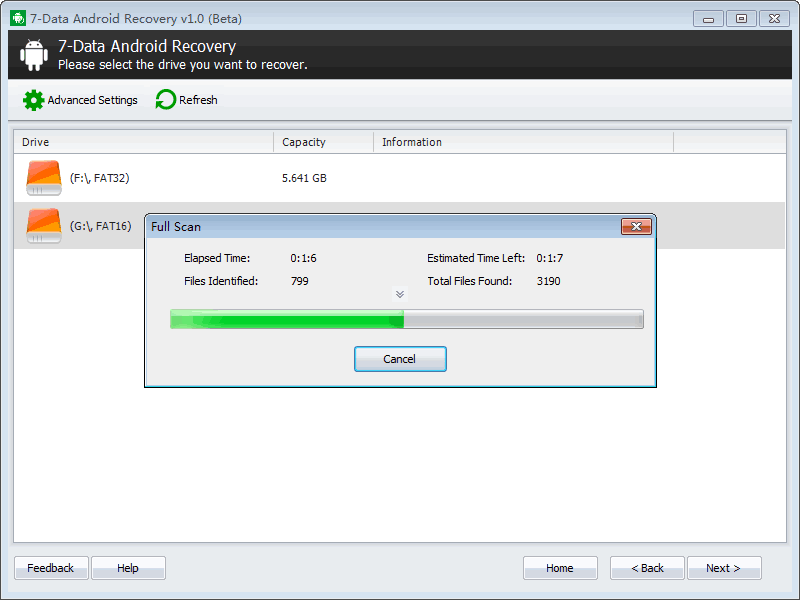 7data-android-recovery-scan