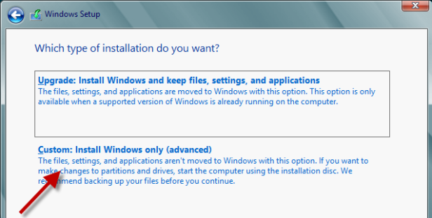 select-custom-install